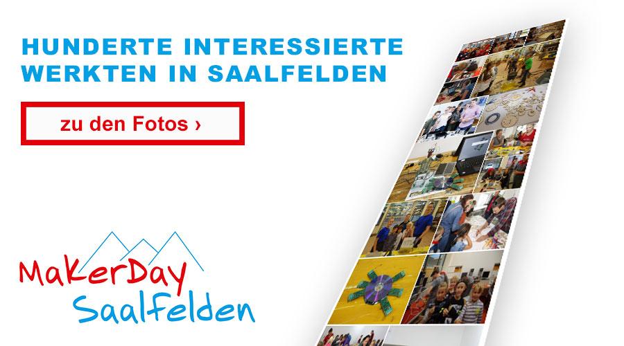 Hunderte Interessierte werkten in Saalfelden