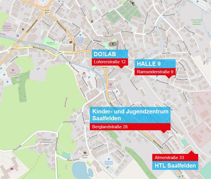 Anfahrtskarte Saalfelden
